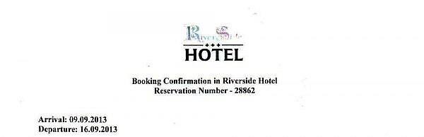 Подтверждение проживания, отель, Латвия