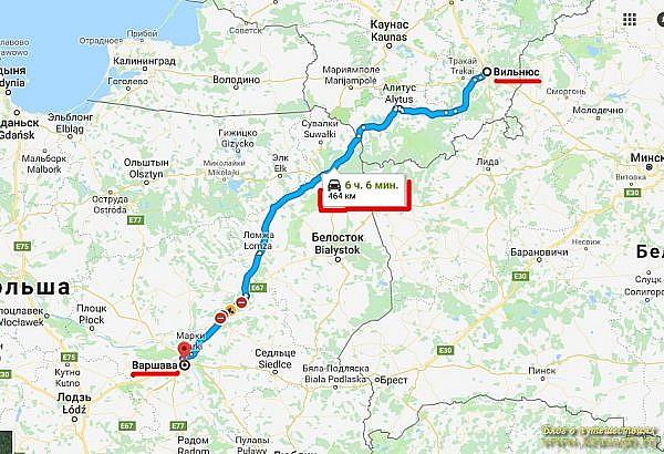 определение средней скорости движения по маршруту поездки