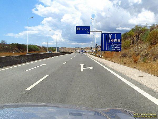 Система Easy Toll в Португалии - пункты въезда