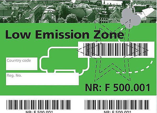 Экологические зоны и экологические стикеры в Дании