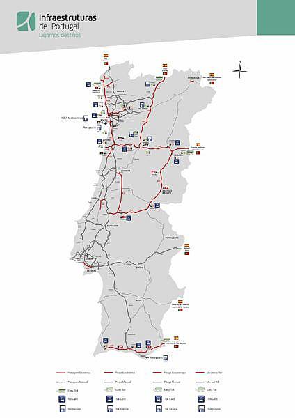 Карта магистралей Португалии