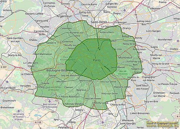 Экологические зоны Парижа