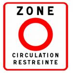 Знак начала экологической зоны во Франции