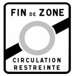Знак конца экологической зоны во Франции