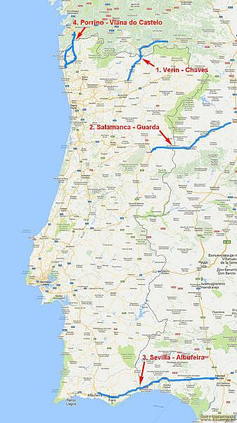 Пункты регистрации Easy Toll на трассах Португалии