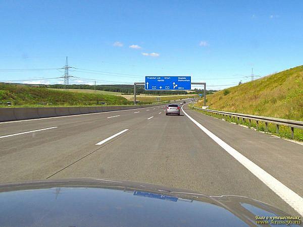 Движение по магистралям в Европе