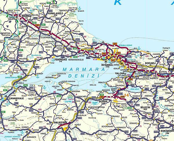 Платные дороги Турции район 1 Эдирне - Стамбул
