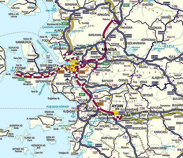 Платные дороги Турции район 3 Измир