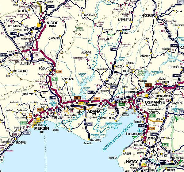 Платные дороги Турции район 4 Мерсин - Нигде - Османия