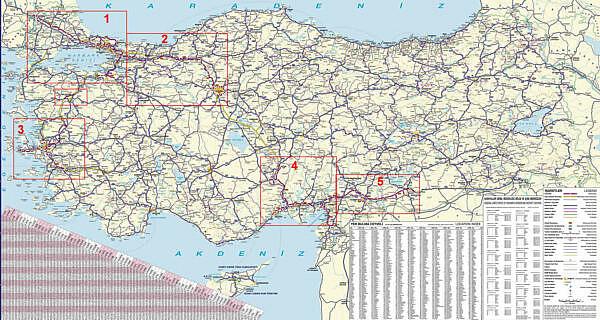 Карта платных дорог Турции