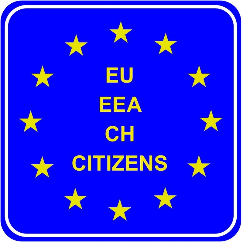 Коридор для граждан ЕС, ЕЭС, Швейцарии