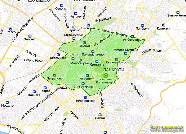Карта экологической зоны, Афины, Греция