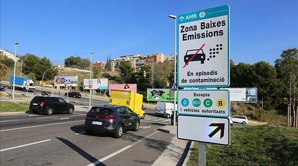 Знак экологической зоны, Барселона