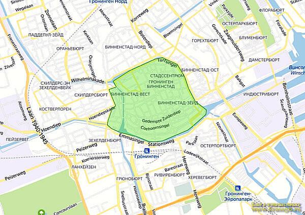 Пешеходная зона в центре г. Гронингем, Нидерланды