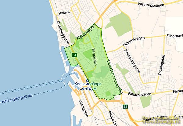 Ограничения движения - экологическая зона Хельсинборг, Швеция