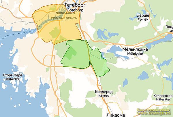 Ограничения движения - экологическая зона Мельндаль, Швеция