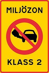 Знаки экологических зон в Швеции