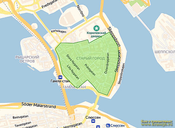 Ограничения движения - Старый город (Гамластан), Стокгольм, Швеция